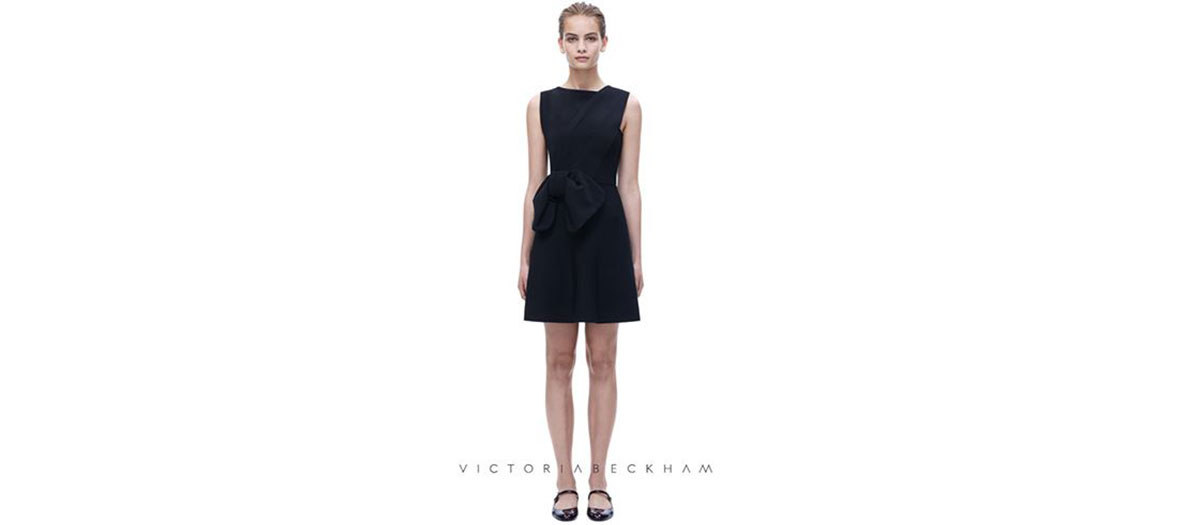 Dress with draped shoulder Victoria Beckham