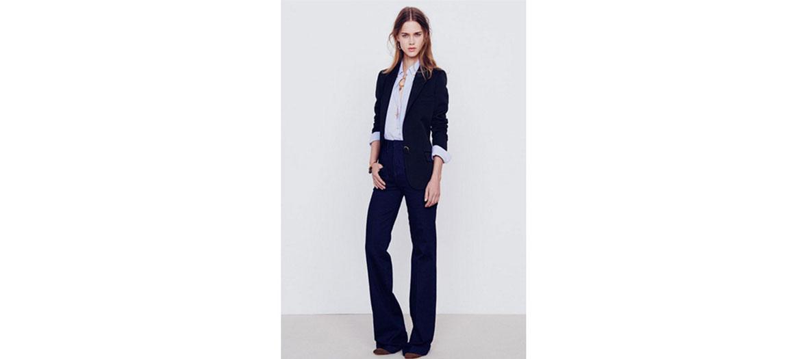 pantalon en coton taille haute évasé Vanessa Bruno