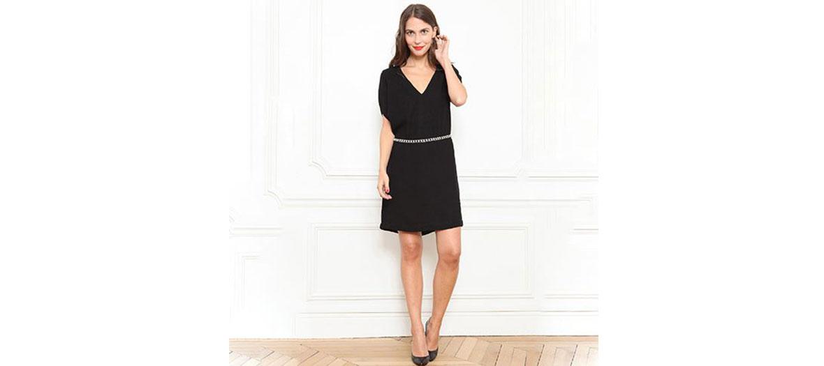Silk black dress Petite Mendigote