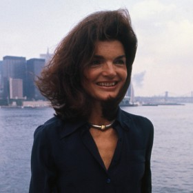 Jackie Kennedy 1976 Sur Le Staten Island Ferry A New York Harbor