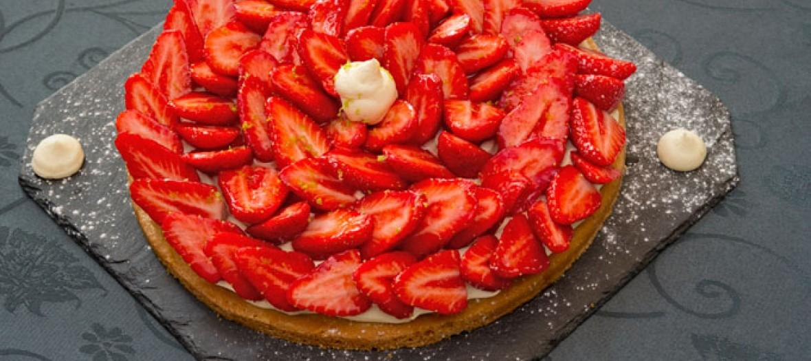 La Table Darmandie La Tarte Aux Fraises Label Rouge Facon Michel