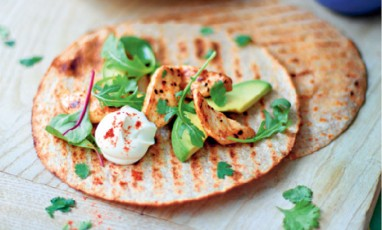 A hot avocado tacos