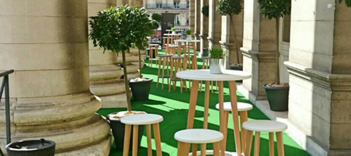 Un Jardin Terrasse Ephemere A La Bourse
