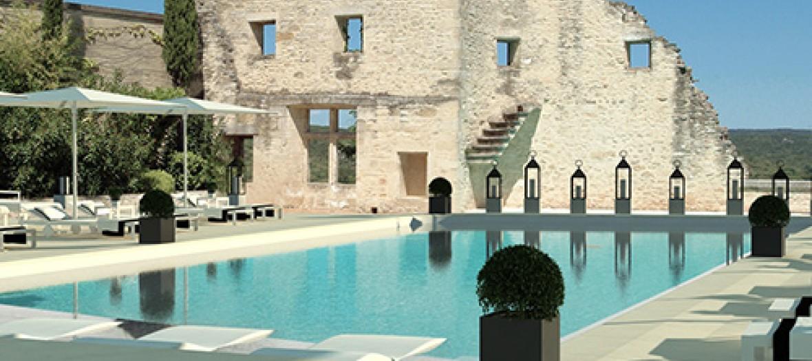 Vieux castillon piscine