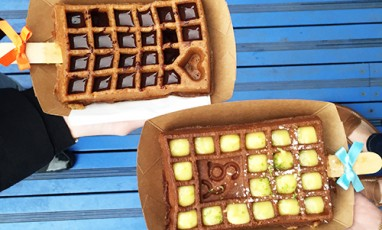 Yummy guiltfree sugar waffles