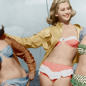 photo vintage de filles en bikini