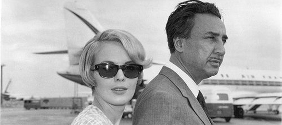 Jean Seberg et Romain Gary black and white