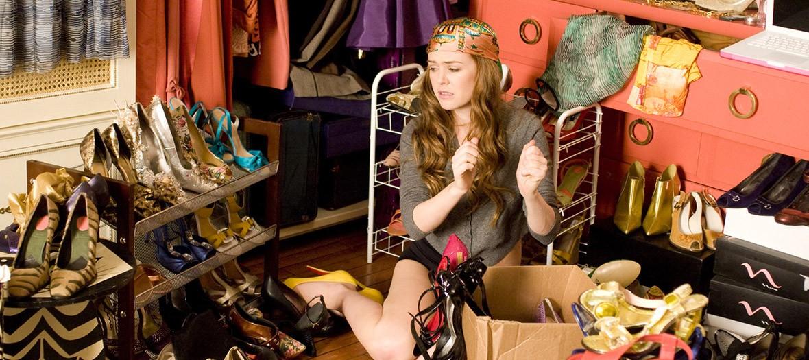 capture écran du film confessions d'une accro du shopping