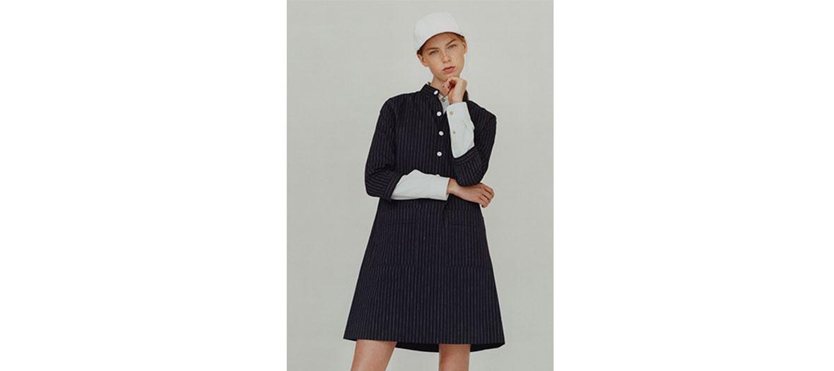 Robe Constance coton et lin APC