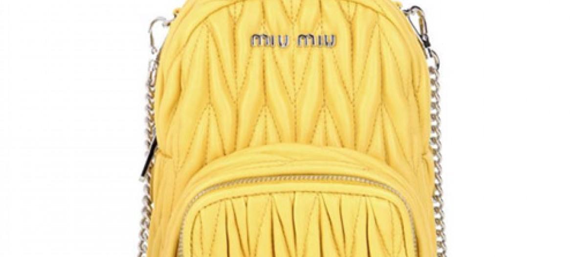Le faux sac à dos Miu Miu