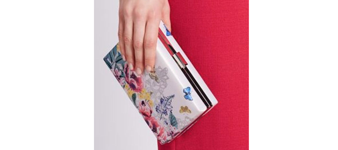 Clutch bag fleuri Mark & Spencer