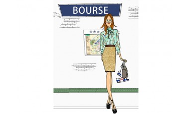 Illustration Fille Travail Metro Parisien Angeline Melin