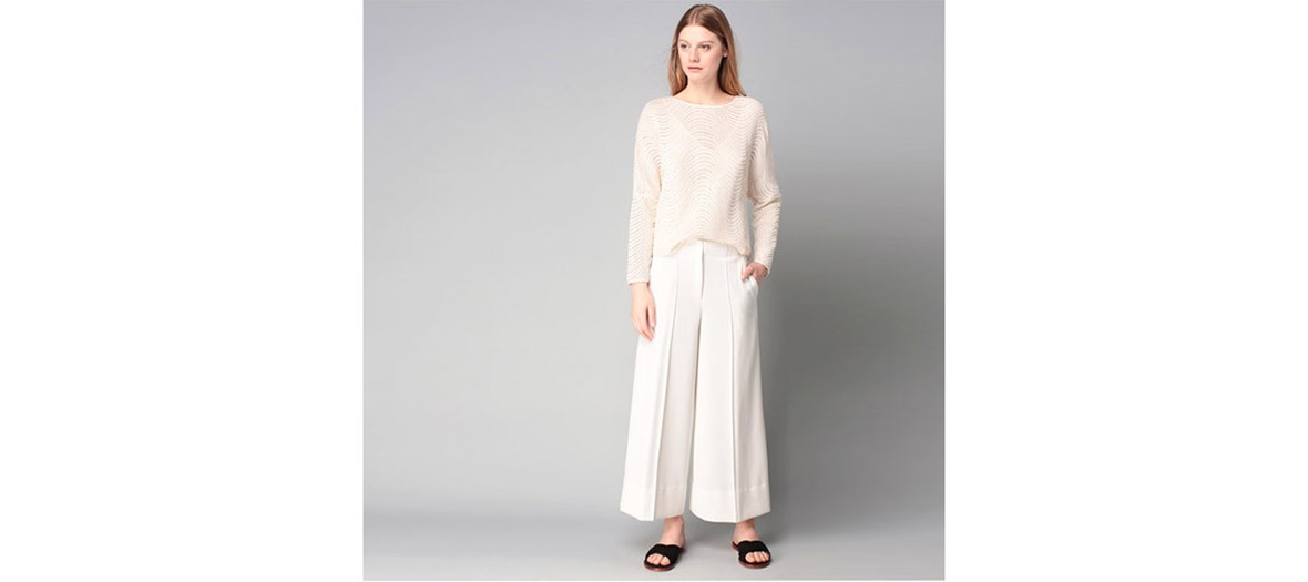 By Malene Birger Pantalon Large Blanc