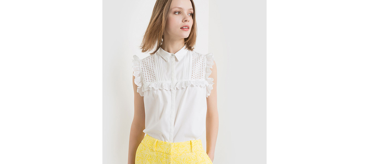 Shirt with ruffles, Mademoiselle R