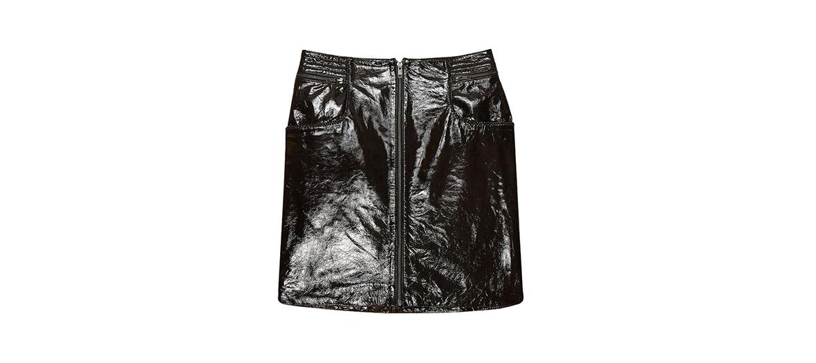 vinyl mini skirt Maje
