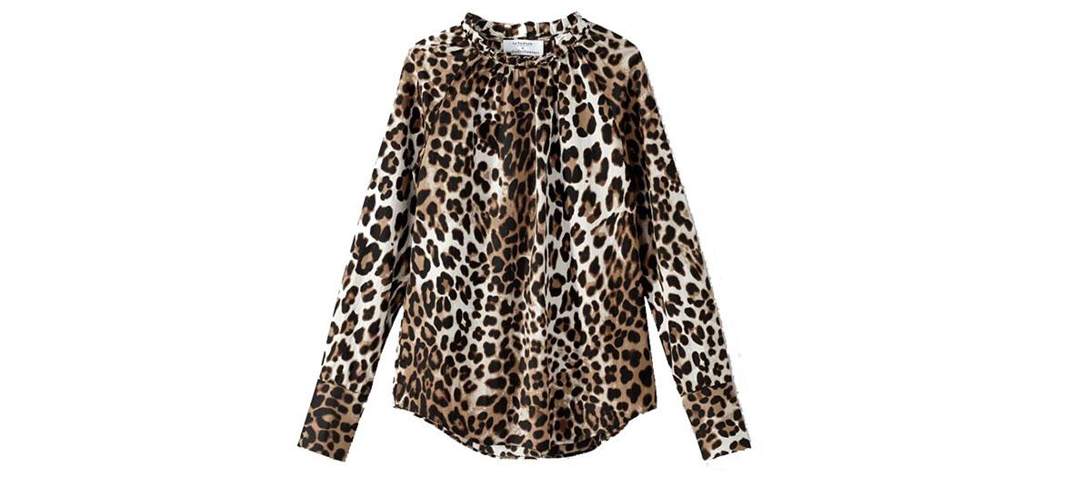 leopard blouse isabelle thomas x la redoute