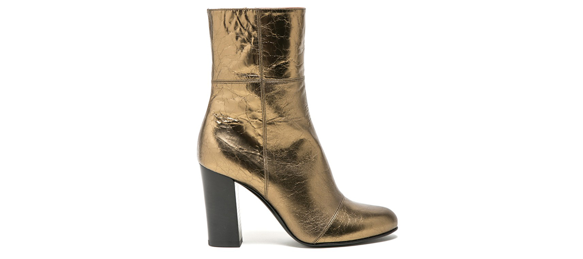 zipped metallic booties michel vivien