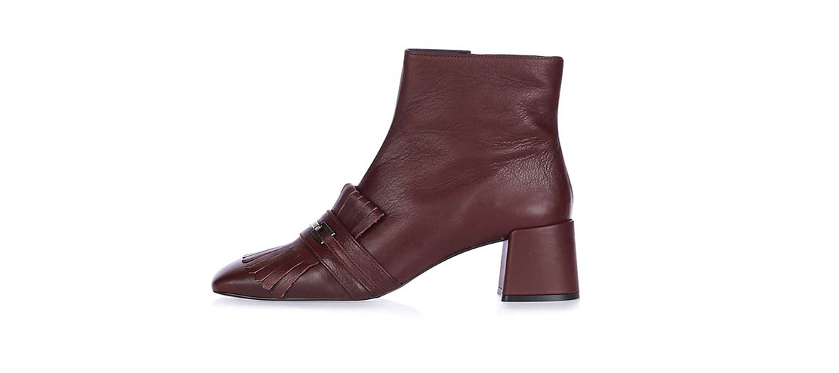 bottines bordeaux topshop