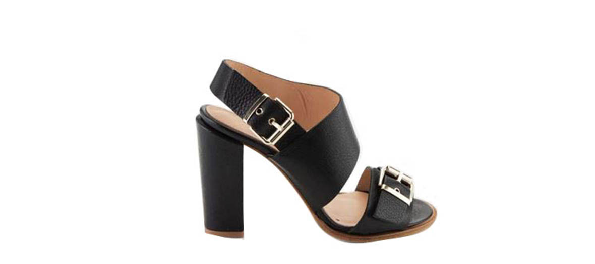 grained leather sandals vanessa bruno