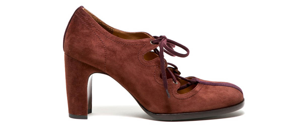 suede oxford with heel chie mihara