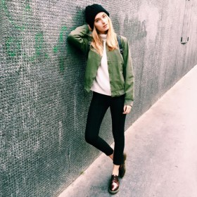 Stylish girl wearing the trendy brand Brandy Melville