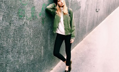 Stylish girl wearing the trendy brand Brandy Melville