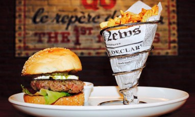 Qg burgers and french fries in paris