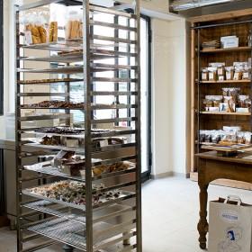intérieur de la boutique de la Compagnie Générale de Biscuiterie