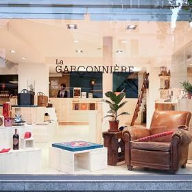 Devanture de la boutique Garconniere à Paris