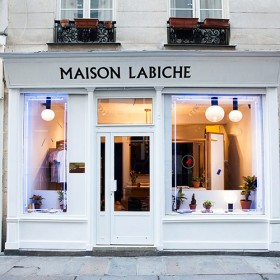 La devanture de la Maison Labiche à Paris