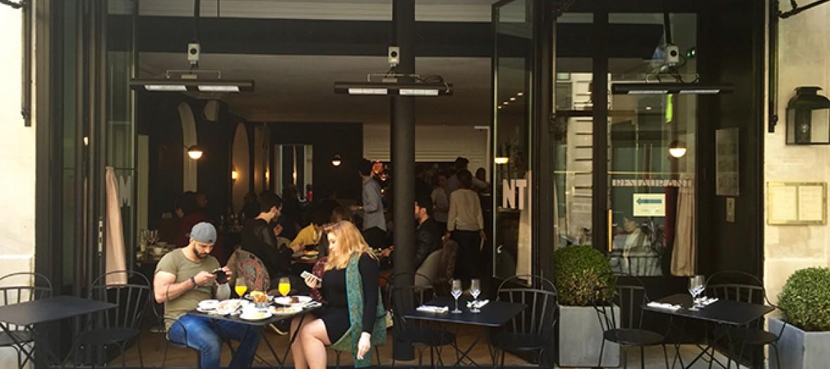 Vue exterieure du restaurant bachaumont