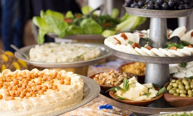 cheese and fruit libanese brunch