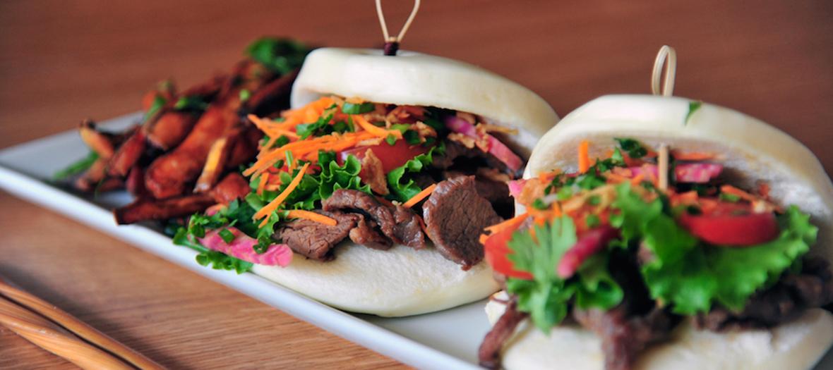 Gua Bao Burger au bœuf de chez Koko.