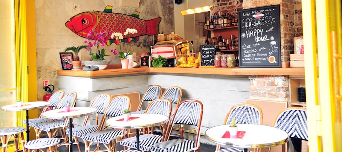 Terrasse du restaurant koko