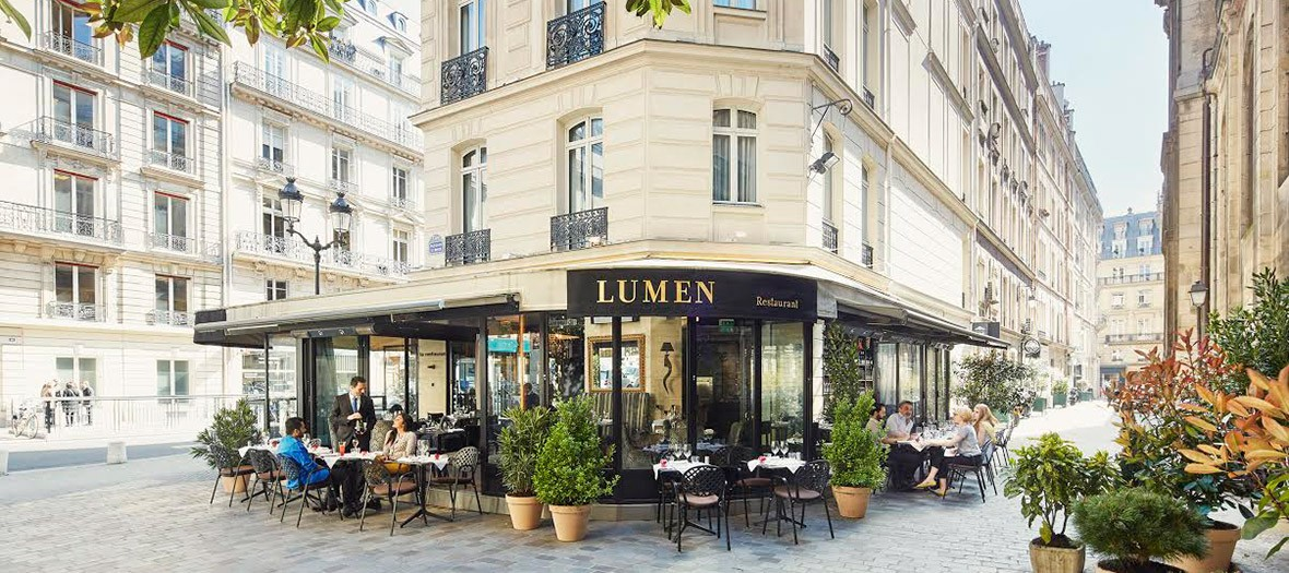 terrasse du restaurant lumen