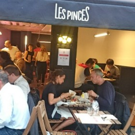 Terrace of les pinces restaurant