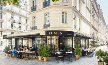 terrace of the lumen restaurant
