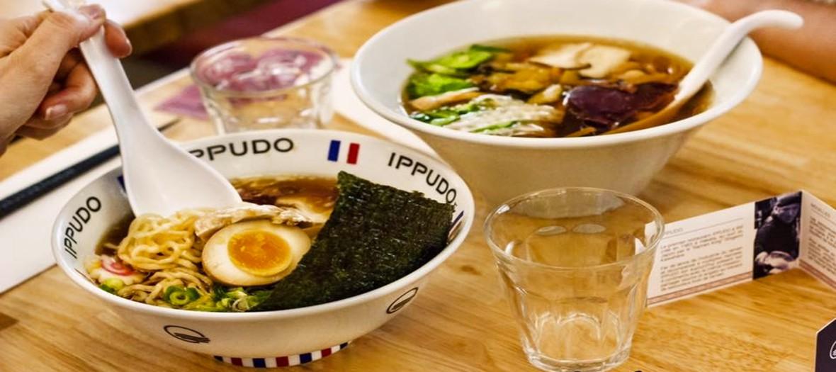 A bowl of ramen at ippudo