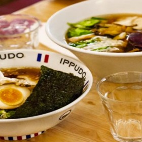 A bowl of ramen at ippudo