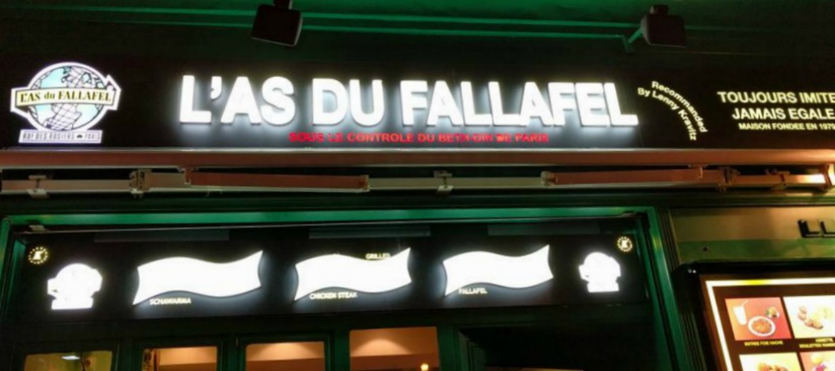 As Du Fallafel, devanture
