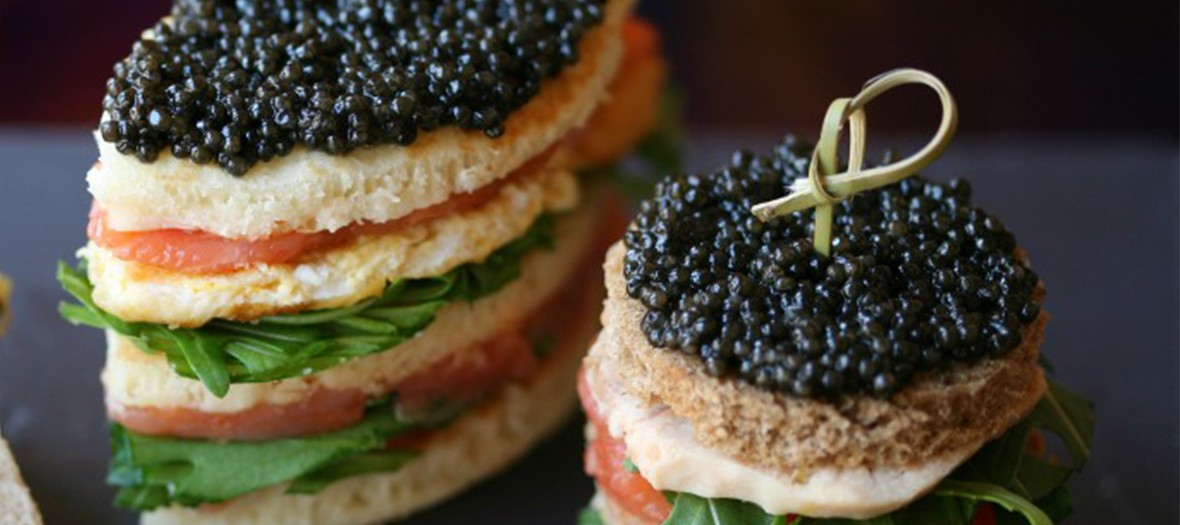 Cafe Prunier Club Sandwich Caviar