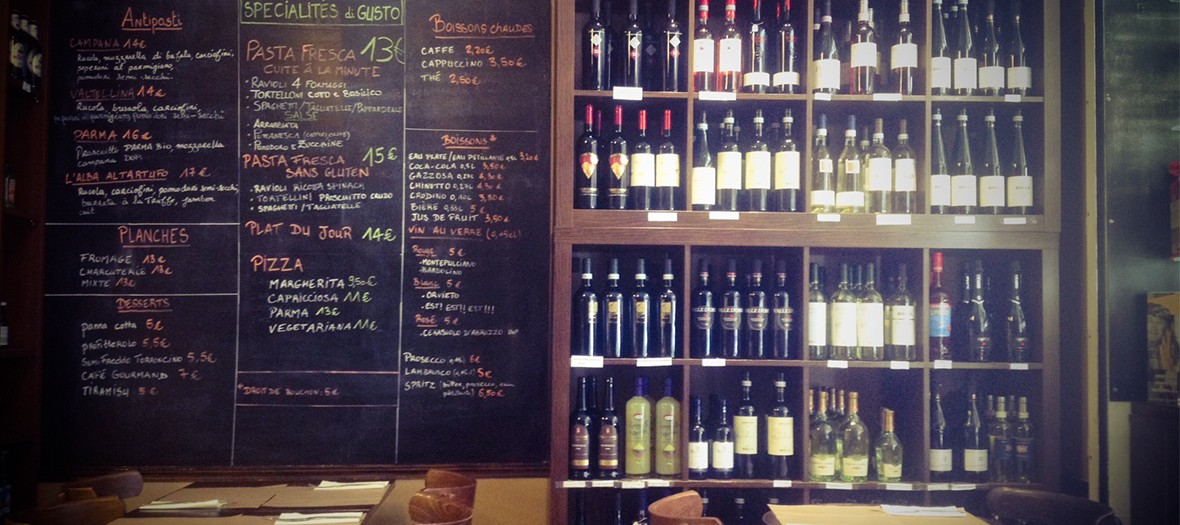 Gusto trattoria interieur vin