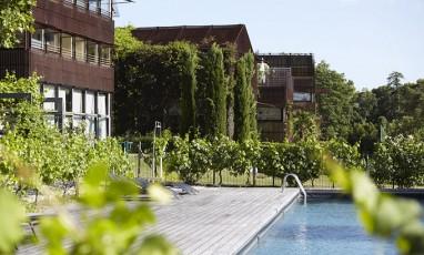 Hôtel avec piscine au milieu des vignes