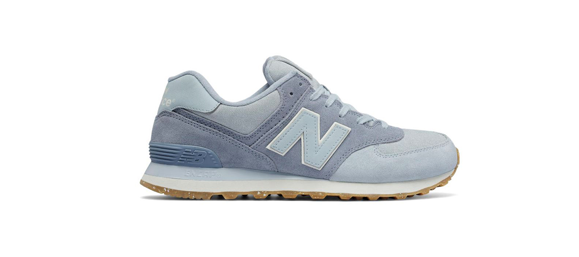 Paires de baskets New Balance bleues