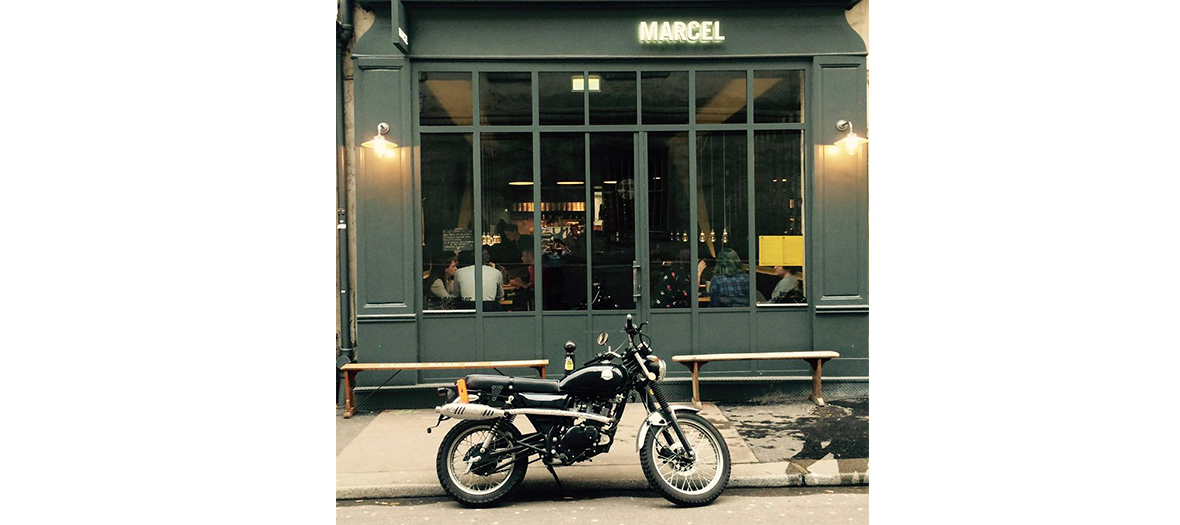 Front of the restaurant Marcel or Juliette Gernez eats the weekend