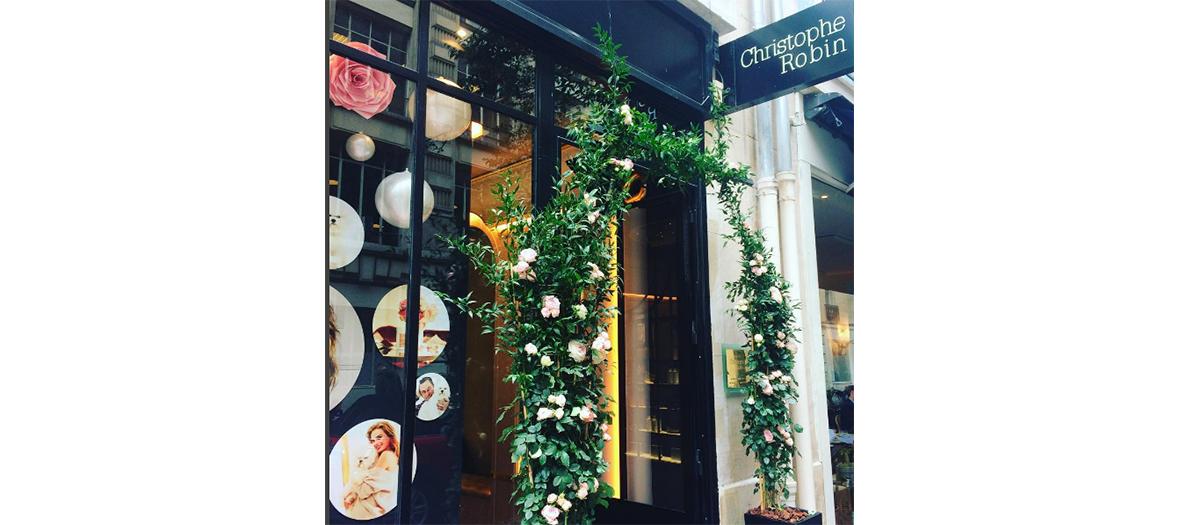 Hairdresser storefront Christophe Robin