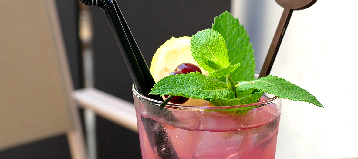 Pink spring cocktail