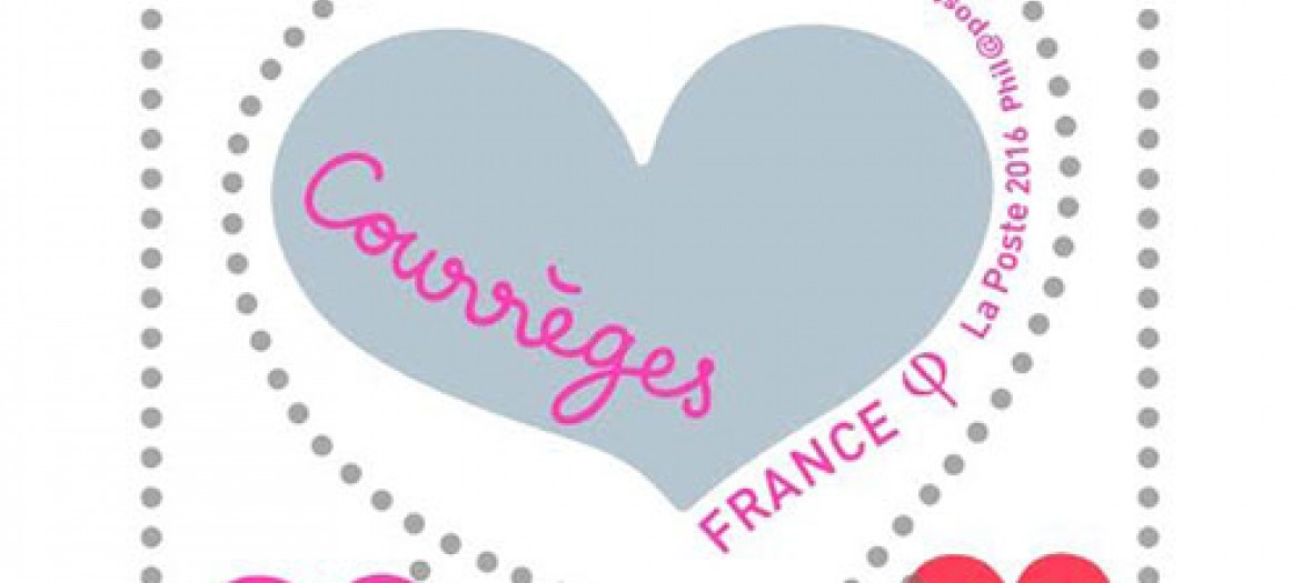 The Courrèges couture stamp