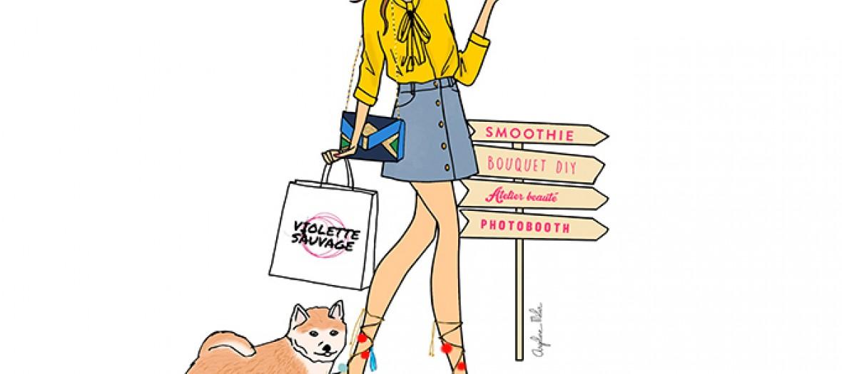 Illustration Journee Parisienne Angeline Melin