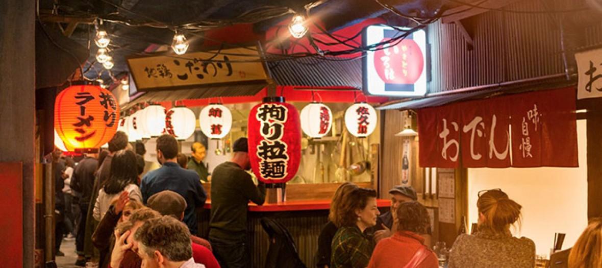 Intérieur du restaurant Kodawari Ramen